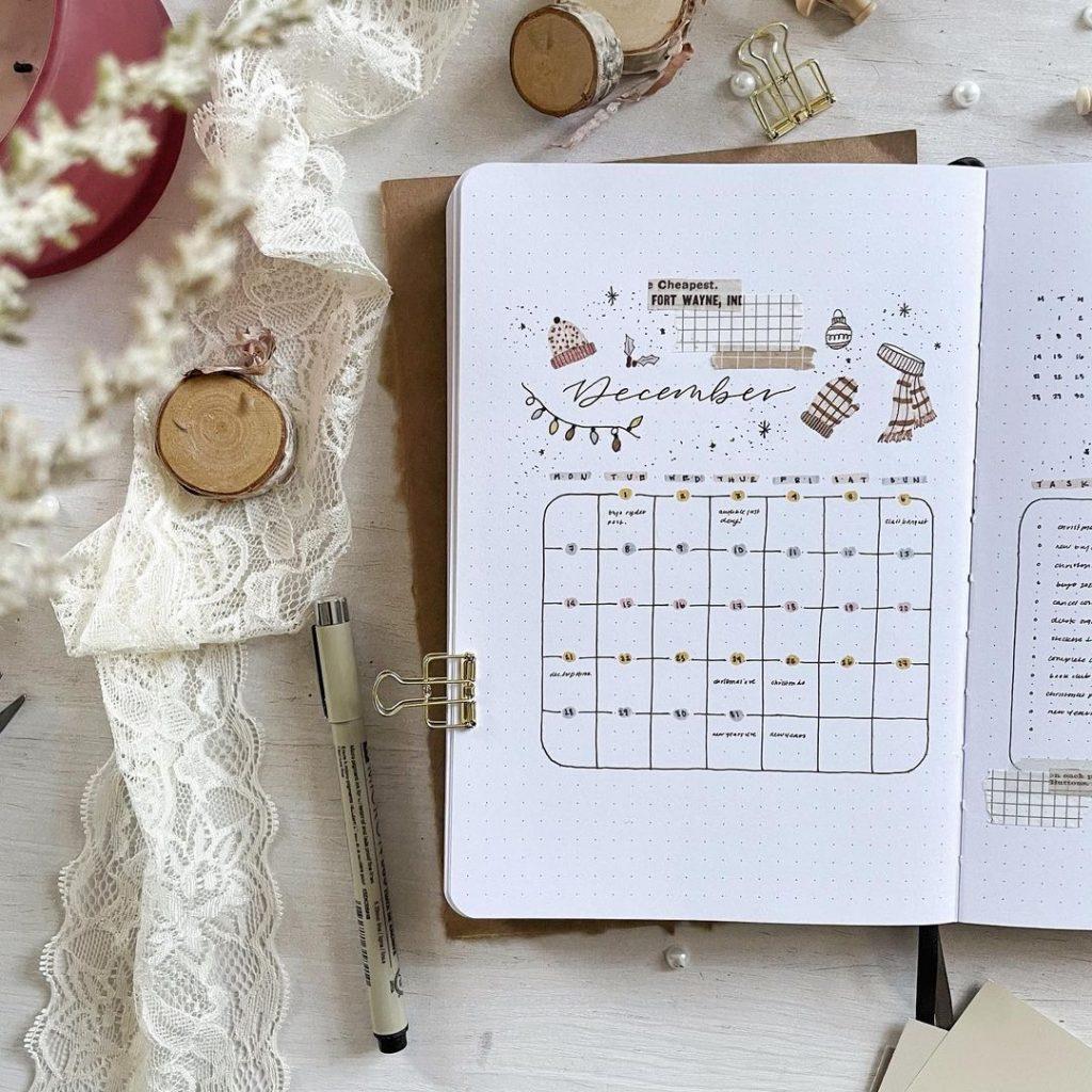 December Bullet Journal Idea
