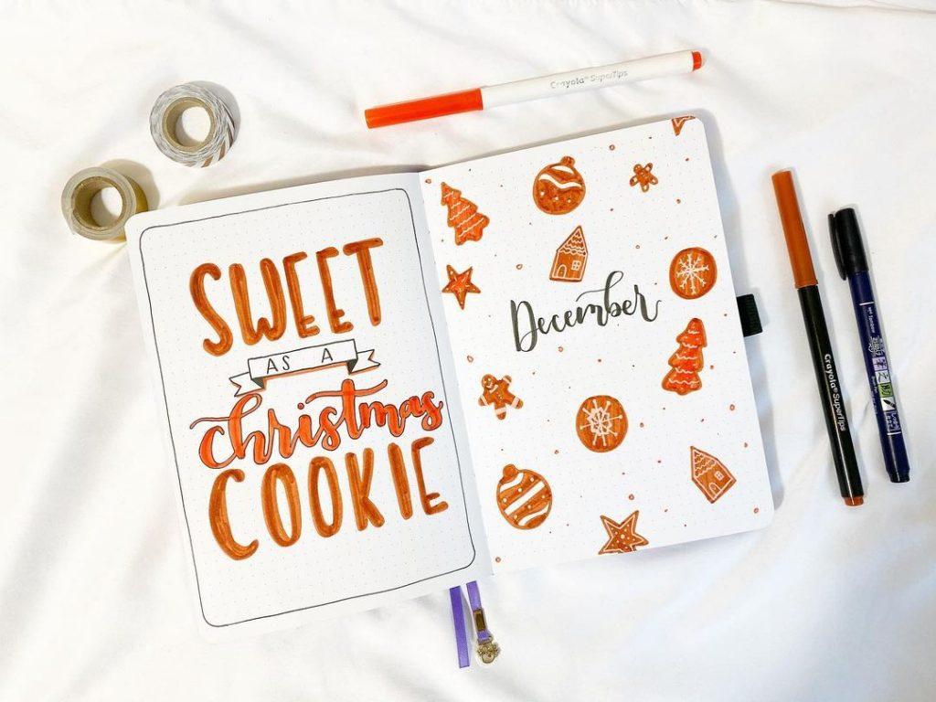 Christmas December Bullet Journal Idea