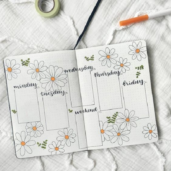 25-most-amazing-and-easy-weekly-log-spreads-for-your-bullet-journal