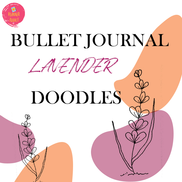 Looking for botanical doodle for your bullet journal? Learn how to draw Lavender flower step by step for your Bullet Journal!