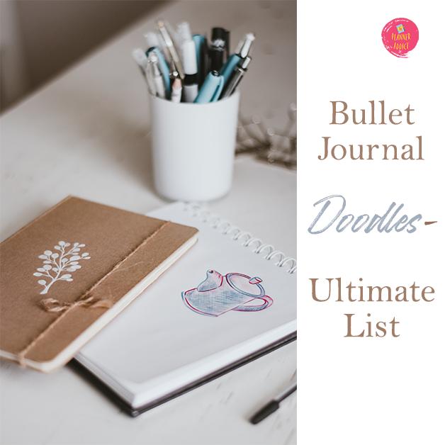 Bullet Journal Doodles- Ultimate list with over 50 doodles